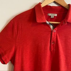BURBERRY Red-Orange Classic Short Sleeve Polo